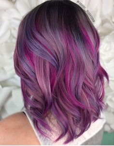 pretty pinkish purple hair
