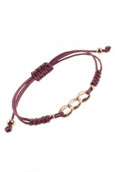#cord #bracelet with rose gold plated decorative elements I designed for NEW ONE I NEWONE-SHOP.COM