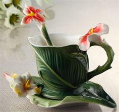 Cheap cup blue, Buy Quality mug set directly from China cup bra Suppliers:PRODUCT DESCRIPTION:Top quality Banana Leafcup\ceramic mug\bone china coffee mug set:Drinkware Type: