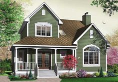 This house is pretty realistic regarding what I might be able to one day have. - House Plans, Home Plan Designs, Floor Plans and Blueprints Country House Plans, Best House Plans, Plan Chalet, Br House, Cottage House, House Painting, My Dream Home, House Colors, Roof Colors