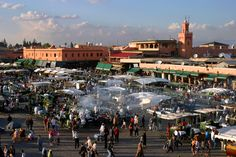 Djemaa El Fna Square - Food Court Area, an exotic array of local cuisine.