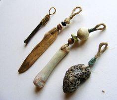 Etsy - greybirdstudio - Artisan Pendant Bead handmade tribal amulet talisman metal brass rust skye scotland
