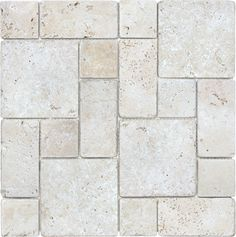 Tumbled Ivory #Travertine - Roman Pattern #Tile #mosaic www.anatoliatile.com