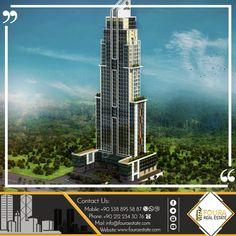 يتم إنشاء هذا المشروع في أفضل مناطق اسنيورت في اسطنبول الأوربية وهي منطقة واعدة بالاستثمار الجيد -المشروع عبارة عن برج كبير عالي يتيح لك العيش في القمة يتألف من 43 طابق و يضم 310 شقة سكنية و18 محل تجاري المساحة الكلية 6500 متر مربع وتتنوع الخيارات فيه بالنسبة لتخطيط الغرف 1+1 /2+1 /3+1 #السعودية #الامارات  #الكويت #مصر #الرياض #قطر #البحرين