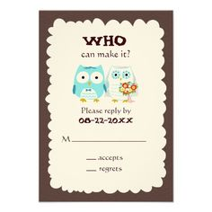 Owls Wedding RSVP, Want it cheaper? Use this link for coupons: https://www.zazzle.com/coupons?rf=238077998797672559