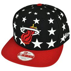 sports shoes 35218 414d0 NBA New Era 950 9fifty Miami Heat Starry Night Stars Black Snapback Hat Cap    Click image to review more details.