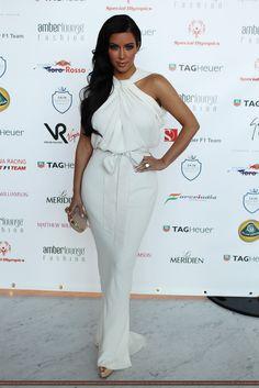 white dress kim kardashian