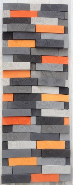 Abstract kunst aan de muur teruggewonnen hout Wall door WallWooden