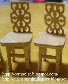 how to: 1/24th scale chairs