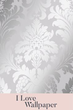 Capturing both classic damask elegance and modern day sumptuous finishes, this wallcovering creates an aura of complete finesse. This particular colourway features a soft base with a contrasting metallic silver print. Grande Damask would create a stunning wall statement and is perfect for a feature wall. Damask Wallpaper, Love Wallpaper, Metallica, Base, Romantic, Wallpapers, Interior Design, Elegant, My Love