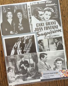 Suspicion Starring Cary Grant & Joan by diamondcloudstudio on Etsy