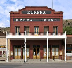 Eureka, NV Opera house...I got my first speeding ticket just outside Eureka...