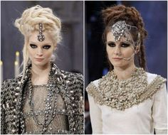 so pretty... Chanel's runways. these girls look like alien princesses or something.