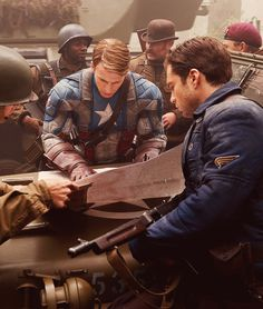 Captain America and Bucky on Captain America: the First Avenger.