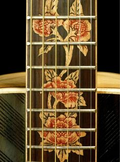 "Blueberry ""Floral"" Motif Acoustic Guitar"