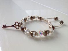 key gold bronze bracelet
