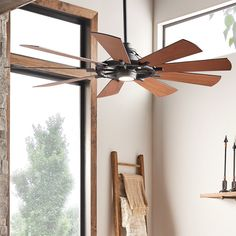 Check out Industrial Spoke Ceiling Fan from Shades of Light Indoor Window Boxes, Windmill Ceiling Fan, Ceiling Fan Blades, Ceiling Fans, Sunroom Decorating, Interior Decorating, Enclosed Porches, Building A Porch, High Humidity