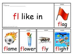 Initial Sound Flip Book- 'fl' sound - ***FREE PRINTABLE*** Phonics Flip Book for Reading Lessons