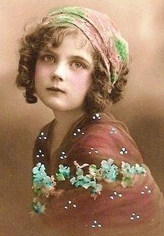 Vintage girl photo...