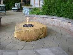 Image result for gas fire features outdoors