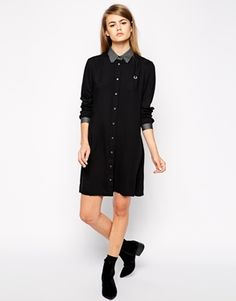 Enlarge Fred Perry Long Sleeved Shirt Dress