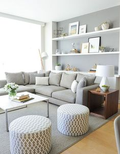 modern living room with soft colors