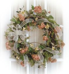spring wreaths | Spring Delight Silk Flower Wreath Just Sold! | Southern Charm Wreaths