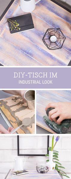 Möbel selberbauen: Tisch im Industrie-Design bauen / build a workspace table in industrial style via DaWanda.com