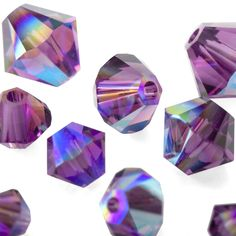 Searching for the perfect shine to add to your next jewelry design? Try new Amethyst Shimmer Swarovski Crystal bicones for eye-catching sparkle in a variety of sizes! Fusion Beads, Metallic Colors, Jewelry Supplies, Swarovski Crystals, Amethyst, Jewelry Design, Sparkle, Searching, Jewerly