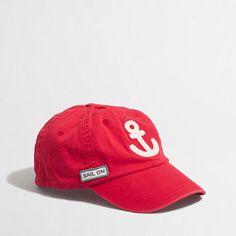 J.Crew Factory - Factory boys' anchor baseball cap