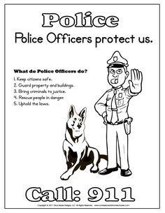 Police Officer Essay Kindergarten Printables