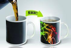 Magic Mug | Amazing New Heat Sensitive Color Changing Coffee Mug , Good Holiday Gift Idea | Smoke Design