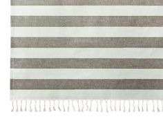 Gray Stripe Shower Curtain ($25)