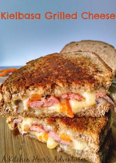 Kielbasa Grilled Cheese with Organic #RumianoCheese - A Kitchen Hoor's Adventures