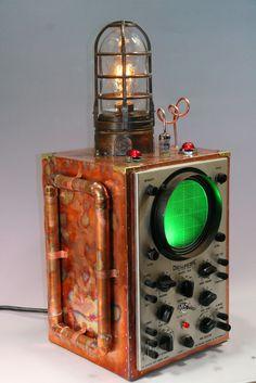 Copper Steampunk Machine Age Submarine Sonar Oscilloscope - SOLD