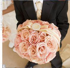 Ring Bearer pink rose pillow