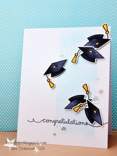 Lawn Fawn Hats Off to You; graduation; congratulations; GRAD Fave; clean and simple