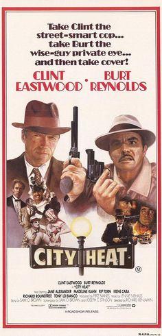 City Heat (1984) Clint Eastwood & Burt Reynolds Movie Poster https://www.youtube.com/user/PopcornCinemaShow