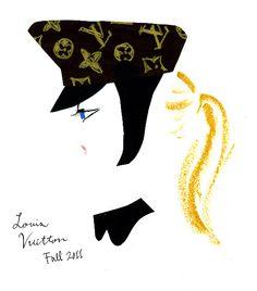 Louis Vuitton FALL 2011 インパクトのある帽子とシースルーの組み合わせがセクシーなルイ・ヴィトン