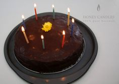 Beeswax - Honey Candles® Colored Birthday Candles - non-toxic and naturally long burning Made in Canada