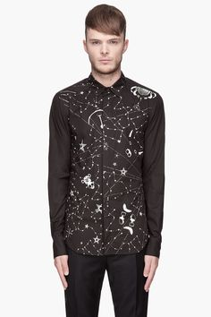 is for Men Collection Zodiac Shirts, John Galliano, Long Sleeve Shirts, Bomber Jacket, Black And White, My Style, Womens Fashion, Cotton, Man Shirt