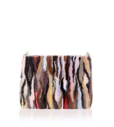 Triloubi large multi coloured fur bag from Savannahs