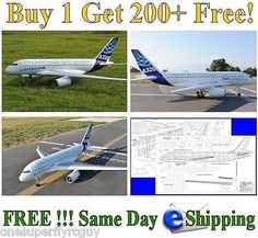 """Airbus A320 Giant Scale RC Airplane 60"""" WS Plans & Templates in PDF Format for USD10.00 #Toys #Hobbies #Radio #Templates  Like the Airbus A320 Giant Scale RC Airplane 60"""" WS Plans & Templates in PDF Format? Get it at USD10.00!"""