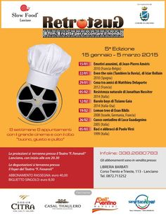 Slow Food, a Lanciano cinema ed enogastronomia con Retrogusto - L'Abruzzo è servito | Quotidiano di ricette e notizie d'AbruzzoL'Abruzzo è servito | Quotidiano di ricette e notizie d'Abruzzo