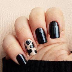 Domi Králiková (@domi_nailart)  #black #blacknails #blackheart #nailart #nailartideas #valentinesday #valentinenails #valentine #valentinesdesign #sexynails #blacknails #nailartideas #nailartlover #nudenails #casualnails #partynails #heartnailart #nailartist #pinit #follow #followmenow #pinnails #pinteresting #like #fashionnails