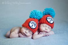 TWIN Thing 1 Thing 2  hats  FREE SHIPPING by OrsonBay on Etsy, $49.00