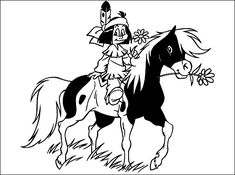 Here are some coloring of Yakari, small Indian hero of a cartoon.