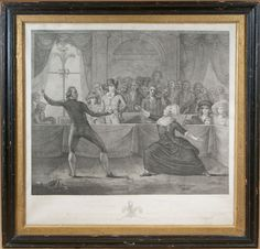 """18th Century """"Fencing Match"""" Engraving - Digby Chadwick Antiques"""