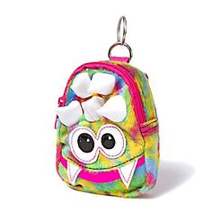 Tie Dye Fuzzy Monster Backpack Wristlet