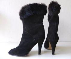 Sexy #vintage high heels #laarzen. rabbit #boots